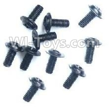 Wltoys A959B A959-B- Round with referral screws-M2.5X6X6(10PCS)-A949-43,Wltoys A959B A959-B Parts