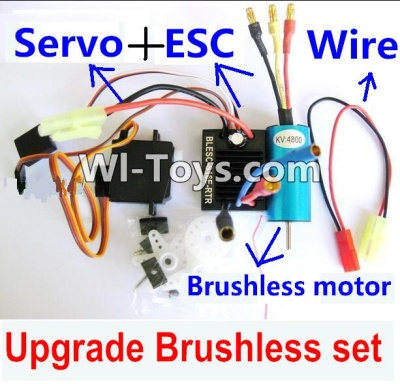 Wltoys A969-B A969B Upgrade Brushless Set(Include the Brushless motor,ESC,Servo,Conversion wire),Wltoys A969-B A969B Parts