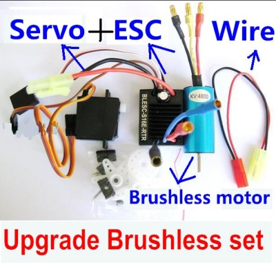 Wltoys A969 Upgrade Brushless Set(Include the Brushless motor,Brushless ESC,Servo and Conversion wire)