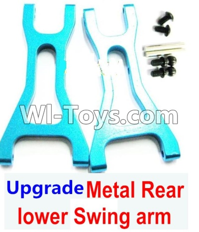 Wltoys A969 Upgrade Metal Rear lower Swing arm,Lower Suspension Arm Parts-2pcs-Blue