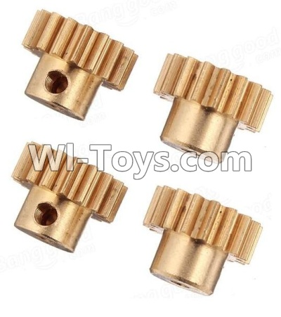 Wltoys A979 Copper motor Gear(4pcs)-0.7 Modulus,Wltoys A979 Upgrade Parts