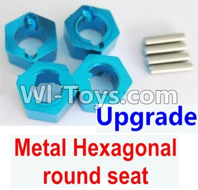 Wltoys A979 Upgrade Metal Hexagonal round seat Parts-4pcs-Blue