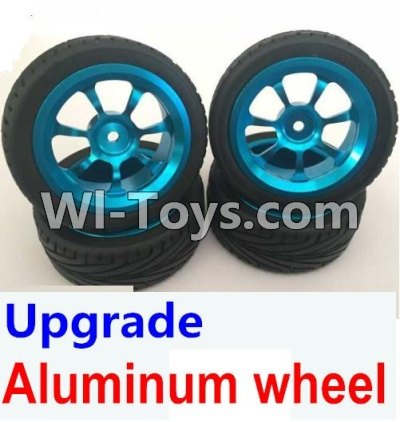 Wltoys K929-B Upgrade Aluminum wheel(4pcs-Include the Tire leather,4pcs 7mm-to-12mm Adapter),Wltoys K929-B K929B Parts