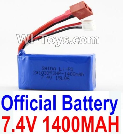 Wltoys K929-B Battery Parts-7.4v 1400mah Battery with T-shape Plug,Wltoys K929-B K929B Parts