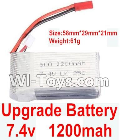 Wltoys K929 Upgrade 1200mah battery(Size-58mmX29mmX21mm)(Weight-61g)