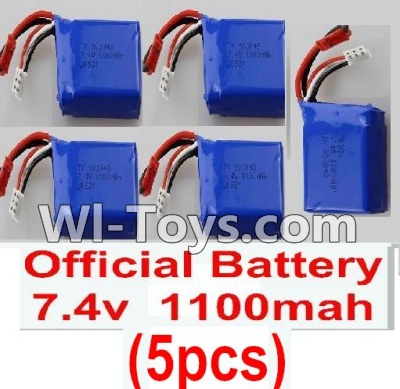 Wltoys K929 Battery Parts-Official 7.4v 1100mah battery(5pcs),Wltoys K929 Parts