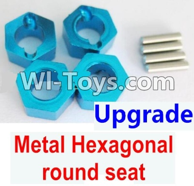 Wltoys K929 Upgrade Metal Hexagonal round seat Parts-4pcs-Blue,Wltoys K929 Parts