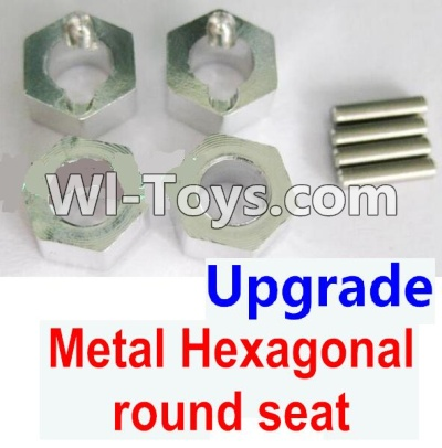 Wltoys K929 Upgrade Metal Hexagonal round seat Parts-4pcs-Silver,Wltoys K929 Parts