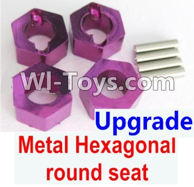 Wltoys K929 Upgrade Metal Hexagonal round seat Parts-4pcs-Purple,Wltoys K929 Parts