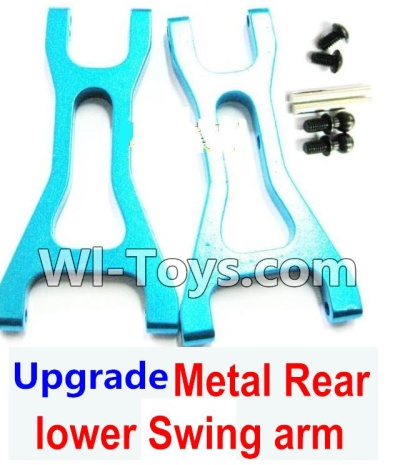 Wltoys K929 Upgrade Metal Rear lower Swing arm,Lower Suspension Arm Parts-2pcs-Blue