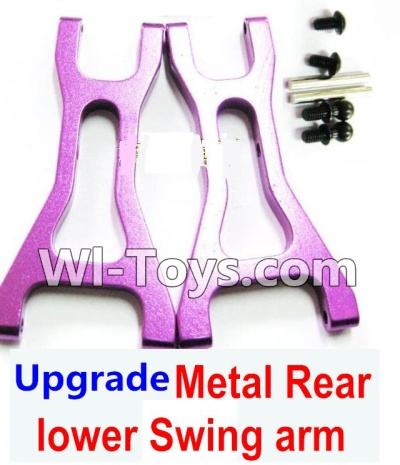 Wltoys K929 Upgrade Metal Rear lower Swing arm,Lower Suspension Arm Parts-2pcs-Purple
