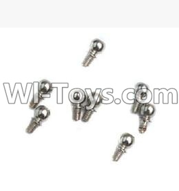 Wltoys K929 Ball-Shape Screws Parts(9.3mmX5mm)-8pcs,Wltoys K929 Parts
