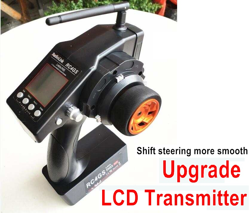 Wltoys 10428 Upgrade LCD Transmitter for the Brushless Kit-Shift steering more smooth