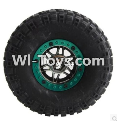 Wltoys 10428 Whole wheel unit(1pcs)-(Inlucde the Wheel Hub,Tire lether,Tire positioning ring)-(Diameter-110mm,Thickness-35mm,12mm hexagonal engagement)