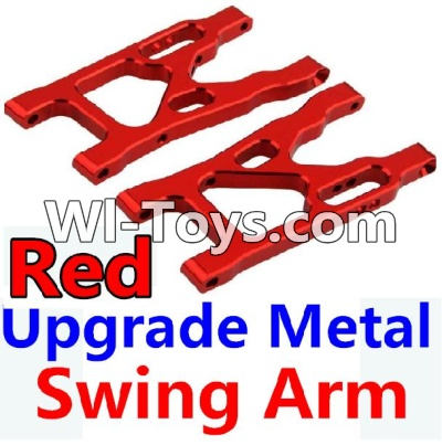 Wltoys 10428 Upgrade Metal Swing Arm-Red-2pcs,Wltoys 10428 Parts