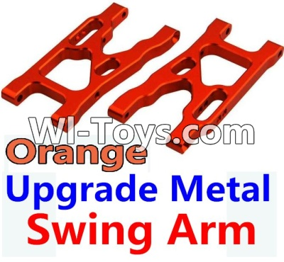Wltoys 10428 Upgrade Metal Swing Arm-Orange-2pcs,Wltoys 10428 Parts