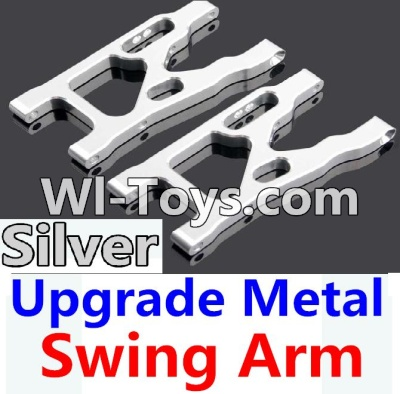 Wltoys 10428 Upgrade Metal Swing Arm-Silver-2pcs,Wltoys 10428 Parts