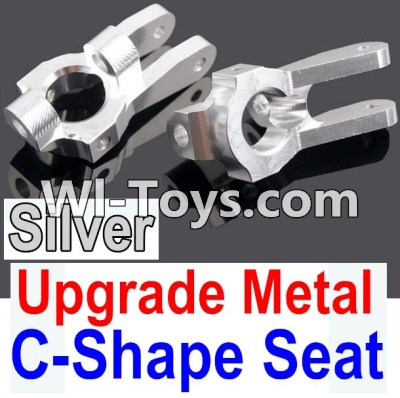 Wltoys 10428 Upgrade Metal C-Shape Seat-Silver-2pcs,Wltoys 10428 Parts