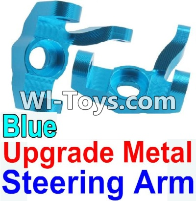 Wltoys 10428 Upgrade Metal Steering arm-Blue-2pcs,Wltoys 10428 Parts