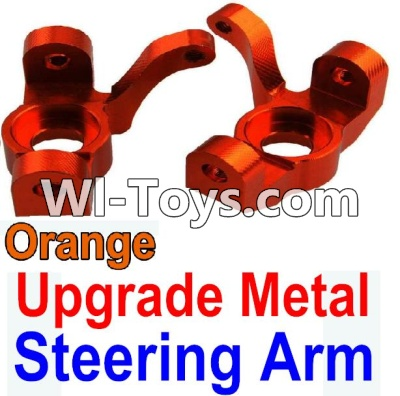 Wltoys 10428 Upgrade Metal Steering arm-Orange-2pcs,Wltoys 10428 Parts