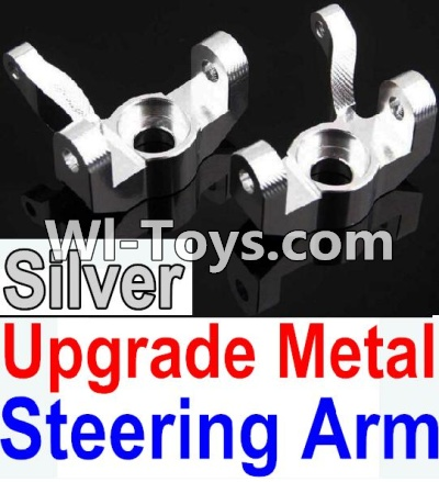 Wltoys 10428 Upgrade Metal Steering arm-Silver-2pcs,Wltoys 10428 Parts