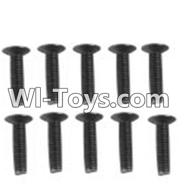 Wltoys 10428 A929-60 Countersunk head inner hexagon Screws-M3X16-Black zinc plated(10PCS),Wltoys 10428 Parts