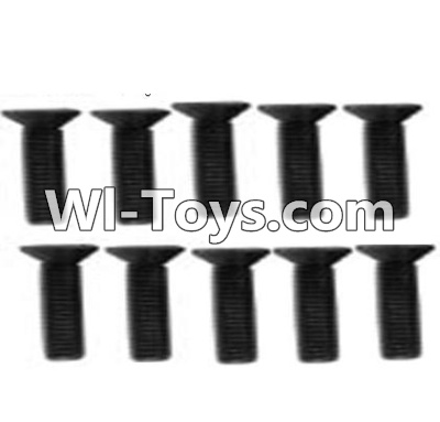 Wltoys K949 A929-61 Countersunk head inner hexagon Screws-M3X12-Black zinc plated(10PCS),High speed 1:10 Scale 4wd Racing Truck Car Parts