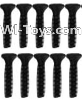 Wltoys 10428 A929-63 Countersunk head inner hexagon Screws-M2.6X10-Black zinc plated(10PCS)