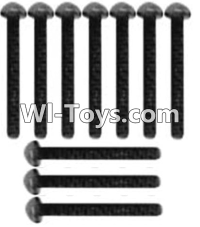 Wltoys 10428 A929-73 Pan head inner hexagon Screws-M3X14-Black zinc plated(10PCS),Wltoys 10428 Parts
