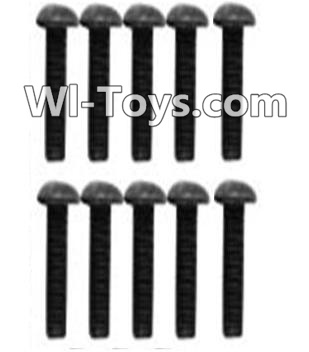 Wltoys 10428 A929-75 Pan head inner hexagon Screws-M3X10-Black zinc plated(10PCS),Wltoys 10428 Parts