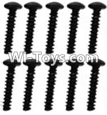 Wltoys 10428 A929-79 Pan head inner hexagon Screws-M3X14-Black zinc plated(10PCS),Wltoys 10428 Parts
