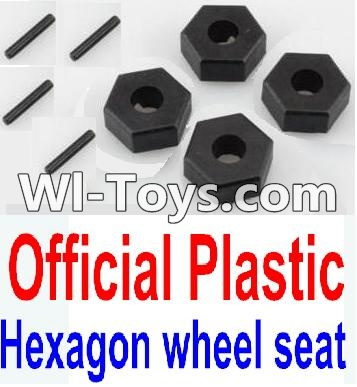Wltoys 10428 Plastic 12MM Hexagon wheel seat,Tire adapter Parts-(4pcs),Wltoys 10428 Parts