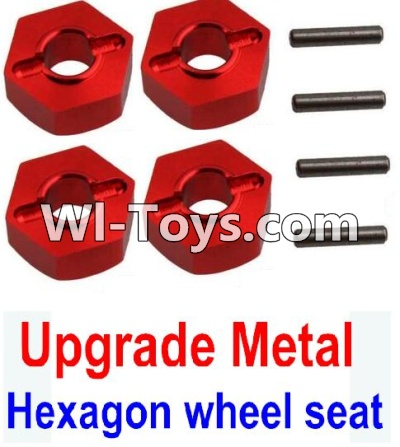 Wltoys 10428 Upgrade Metal 12MM Hexagon wheel seat,Tire adapter(4pcs)-Red,Wltoys 10428 Parts