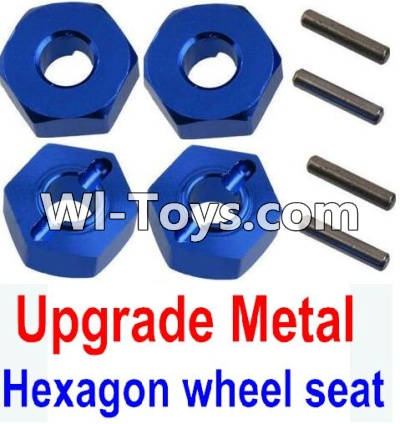 Wltoys 10428 Upgrade Metal 12MM Hexagon wheel seat,Tire adapter(4pcs)-Dark Blue,Wltoys 10428 Parts