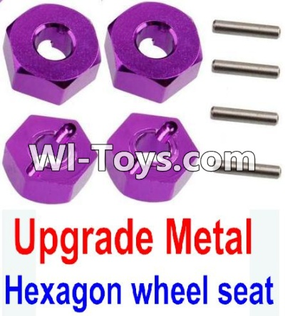 Wltoys 10428 Upgrade Metal 12MM Hexagon wheel seat,Tire adapter(4pcs)-Purple,Wltoys 10428 Parts
