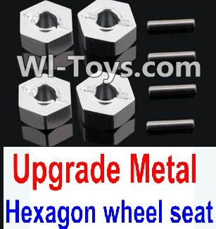 Wltoys 10428 Upgrade Metal 12MM Hexagon wheel seat,Tire adapter(4pcs)-Silver,Wltoys 10428 Parts