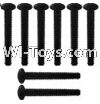 Wltoys K949 K939-62 Pan head inner hexagon Screws-M3X21-Black zinc plated-M3X25(8PCS),Wltoys K949 Parts