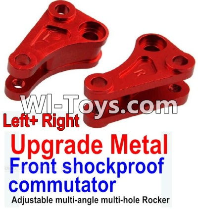 Wltoys 10428 Upgrade Metal Front shockproof commutator(Left and Right)-Red,Wltoys 10428 Parts