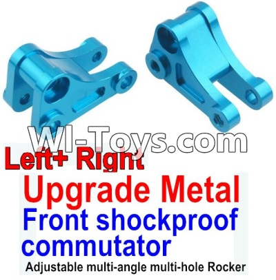 Wltoys 10428 Upgrade Metal Front shockproof commutator(Left and Right)-Blue,Wltoys 10428 Parts