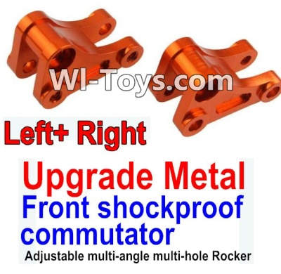 Wltoys 10428 Upgrade Metal Front shockproof commutator(Left and Right)-Orange,Wltoys 10428 Parts