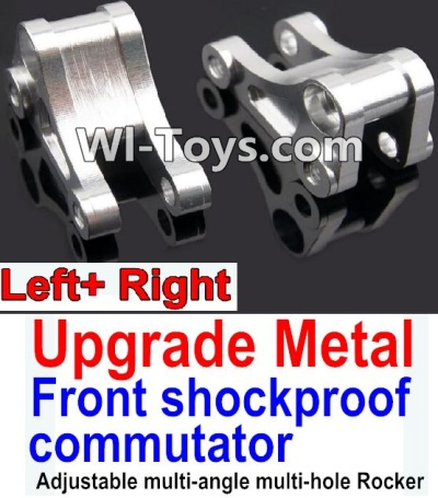 Wltoys 10428 Upgrade Metal Front shockproof commutator(Left and Right)-Silver,Wltoys 10428 Parts