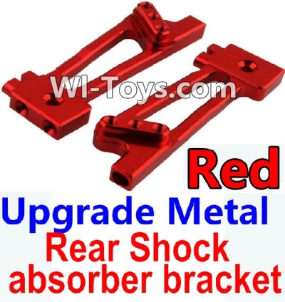 Wltoys 10428 Upgrade Metal Rear Shock absorber bracket-Red-2pcs,Wltoys 10428 Parts