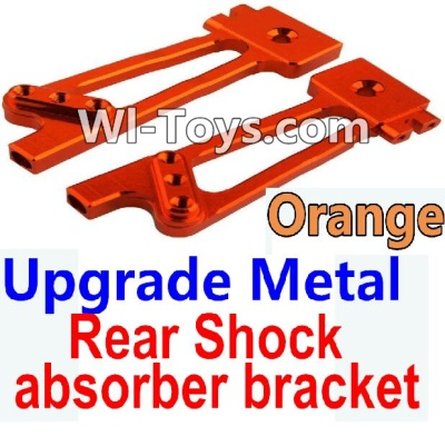 Wltoys 10428 Upgrade Metal Rear Shock absorber bracket-Orange-2pcs,Wltoys 10428 Parts