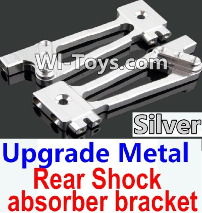 Wltoys 10428 Upgrade Metal Rear Shock absorber bracket-Silver-2pcs,Wltoys 10428 Parts