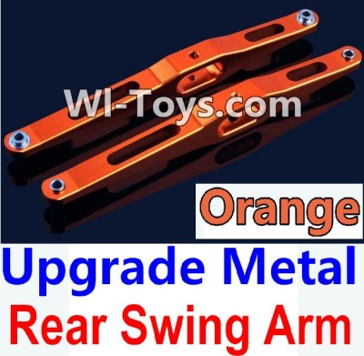 Wltoys 10428 Upgrade Metal Rear Swing Arm-Orange-2pcs,Wltoys 10428 Parts