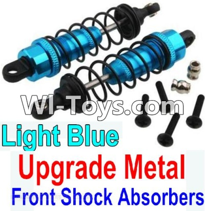 Wltoys 10428 Upgrade Metal Front Shock Absorbers(2pcs)-Light Blue,Wltoys 10428 Parts