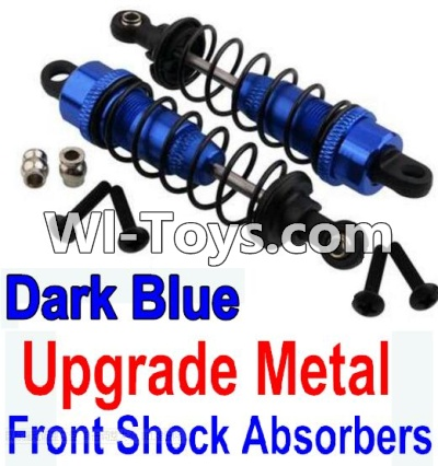 Wltoys 10428 Upgrade Metal Front Shock Absorbers(2pcs)-Darke Blue,Wltoys 10428 Parts