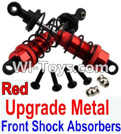 Wltoys K949 Upgrade Metal Front Shock Absorbers(2pcs)-Red,Wltoys K949 Parts