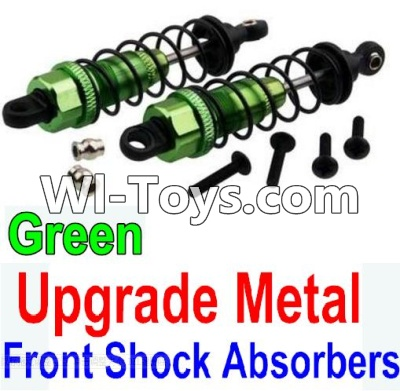 Wltoys 10428 Upgrade Metal Front Shock Absorbers(2pcs)-Green,Wltoys 10428 Parts