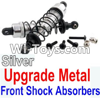 Wltoys 10428 Upgrade Metal Front Shock Absorbers(2pcs)-Silver,Wltoys 10428 Parts